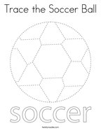 Trace the Soccer Ball Coloring Page