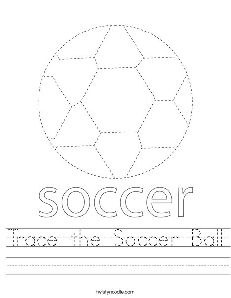 Trace the Soccer Ball Worksheet