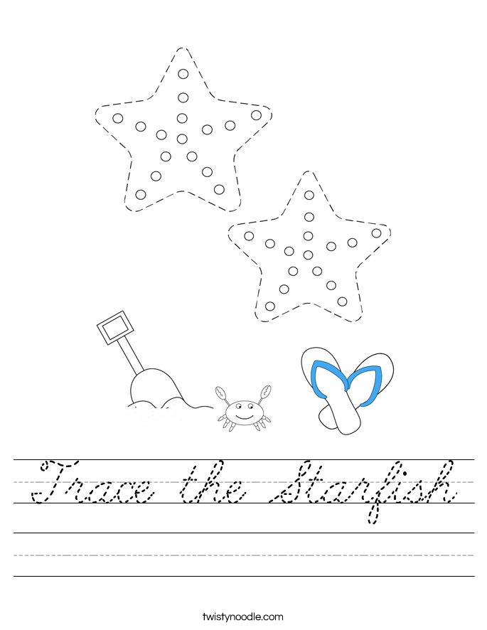 Trace the Starfish Worksheet