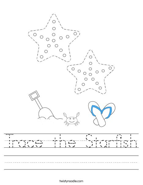 Trace the Starfish Worksheet