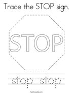 Trace the STOP sign Coloring Page