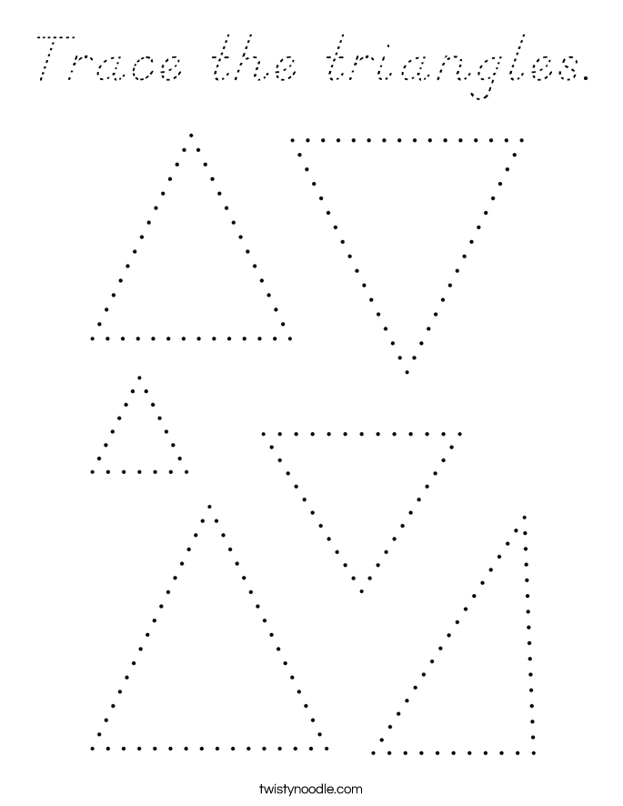 Trace the triangles. Coloring Page