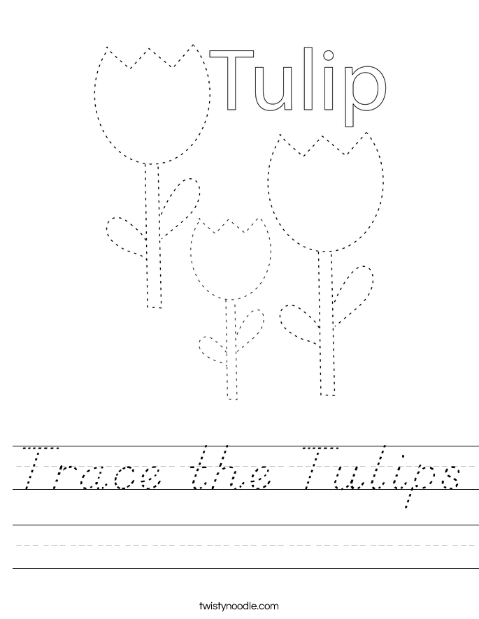 Trace the Tulips Worksheet