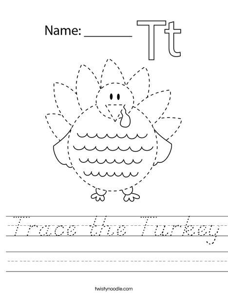 Trace the Turkey Worksheet