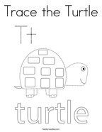 Trace the Turtle Coloring Page