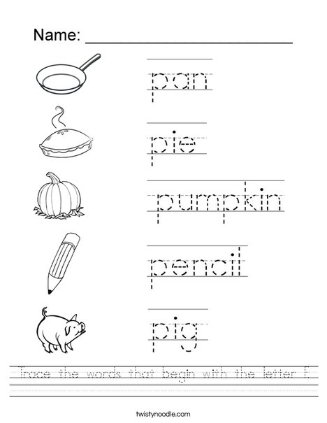Letter P Alphabet Activities at EnchantedLearning.com