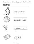 Letter Q Coloring Pages Stunning Letter Q Coloring Book Free