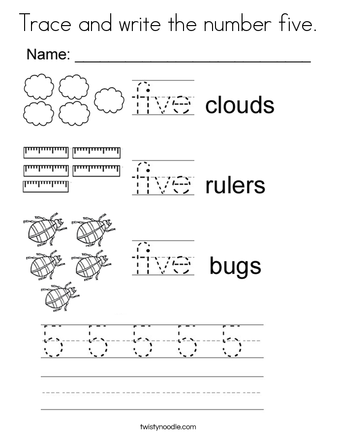 number tracing and coloring pages - photo#9