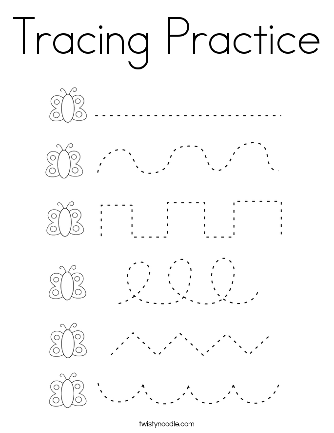 Tracing Practice Coloring Page