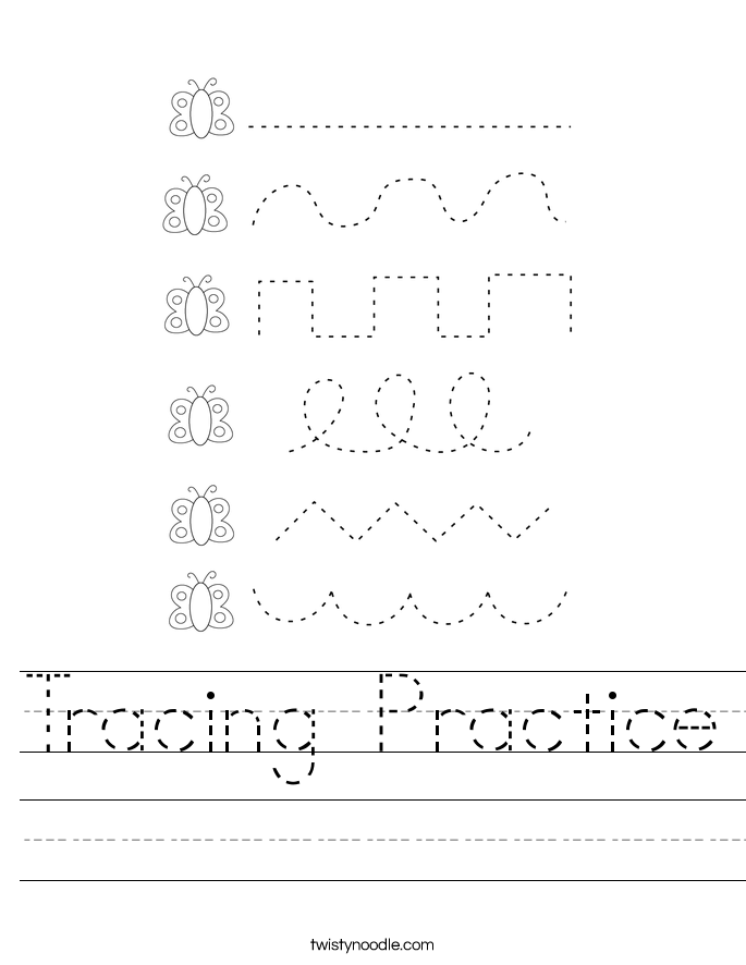 Tracing Practice Worksheet
