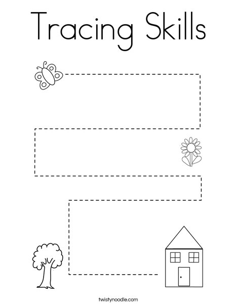 Tracing Skills Coloring Page