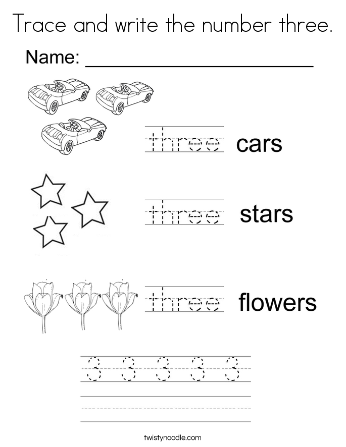 number tracing and coloring pages - photo#3