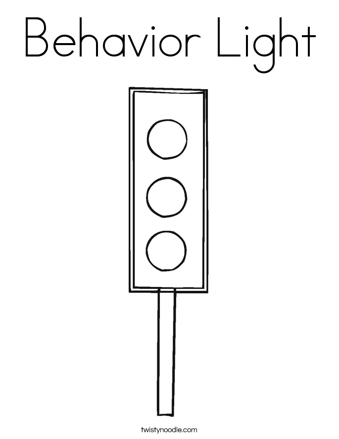 Behavior Light Coloring Page