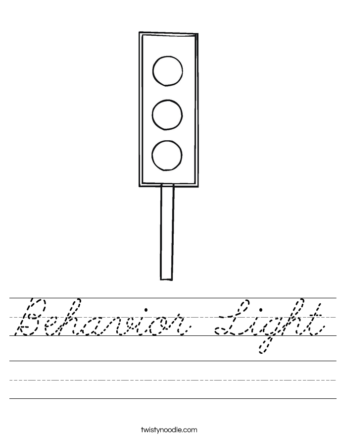 Behavior Light Worksheet