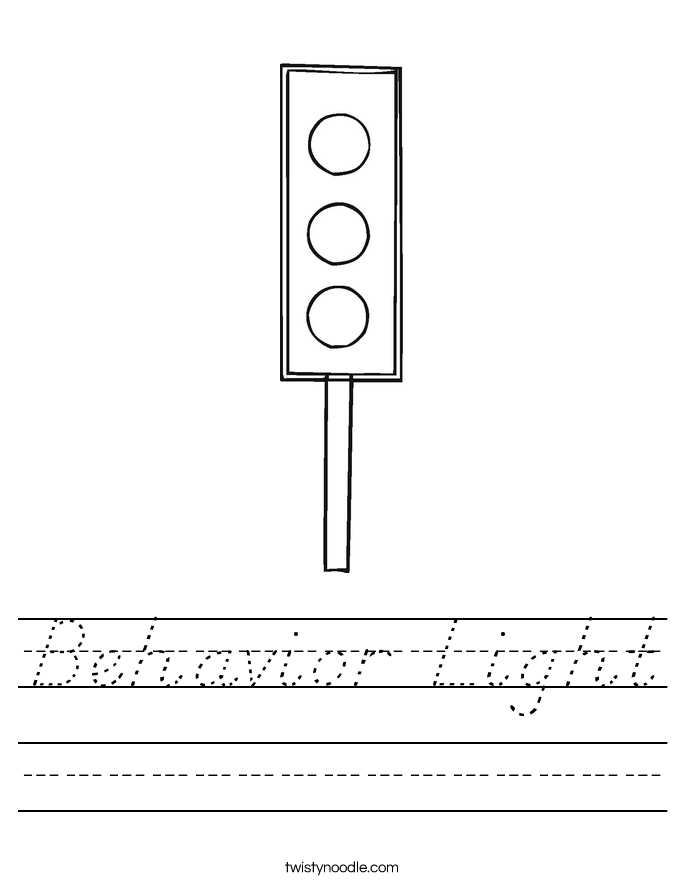 Behavior Light Worksheet