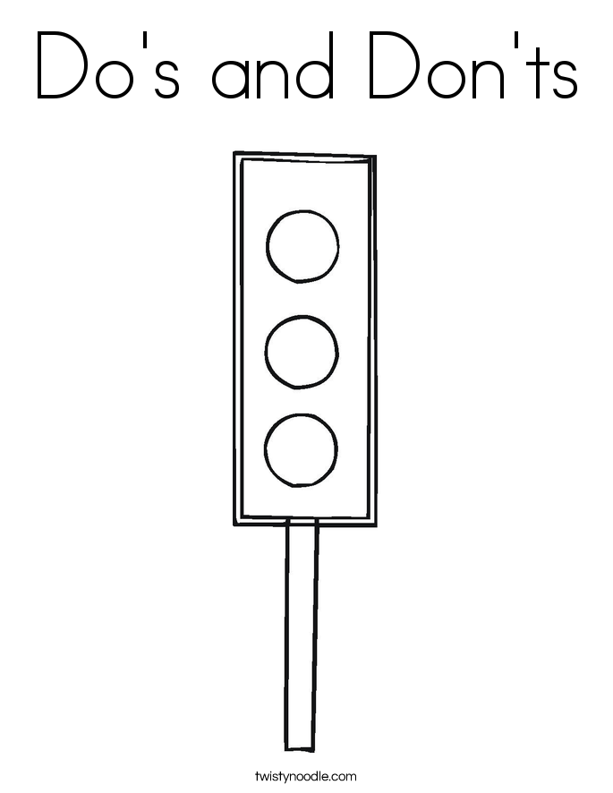 Do's and Don'ts Coloring Page