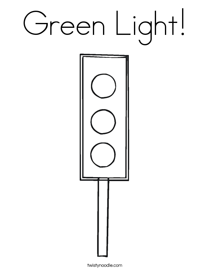 Green Light! Coloring Page