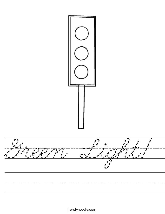 Green Light! Worksheet