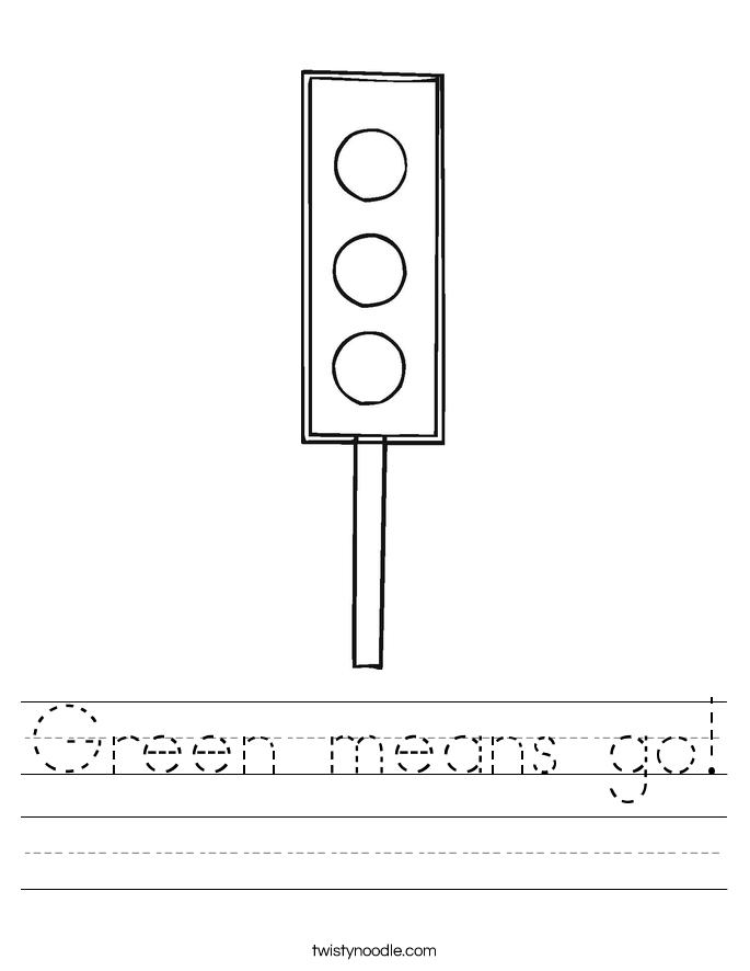 Green means go! Worksheet