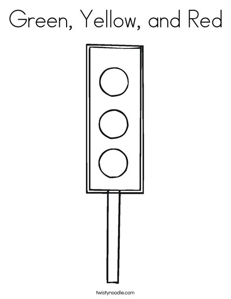 Traffic Light Coloring Page