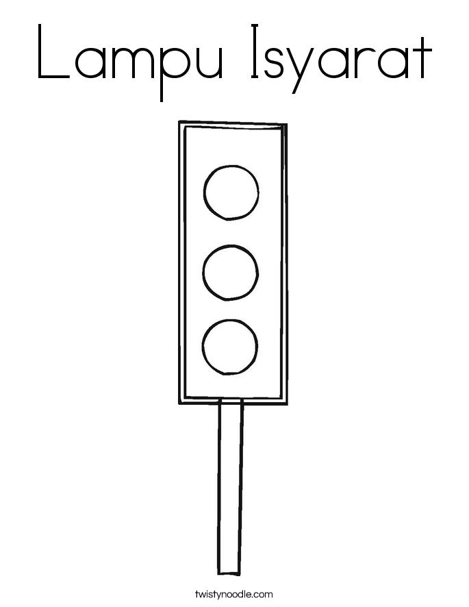 Lampu Isyarat Coloring Page