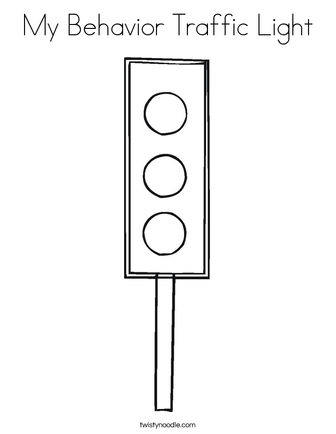 My Behavior Traffic Light Coloring Page
