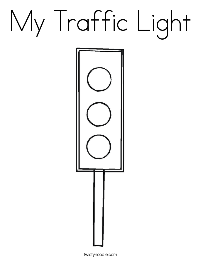 My Traffic Light Coloring Page