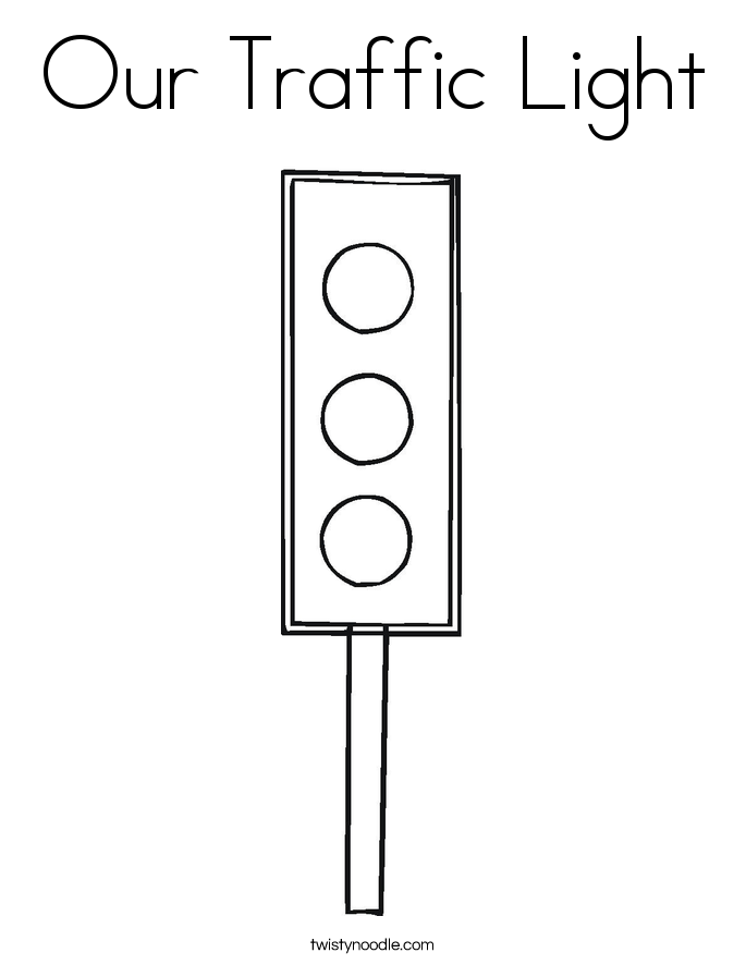 Our Traffic Light Coloring Page