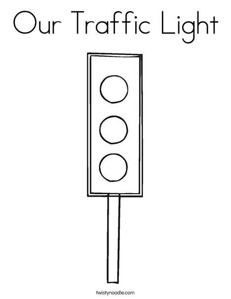 Our Traffic Light Coloring Page - Twisty Noodle