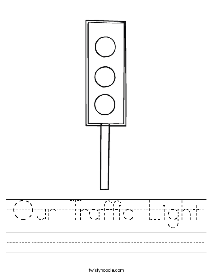 Our Traffic Light Worksheet