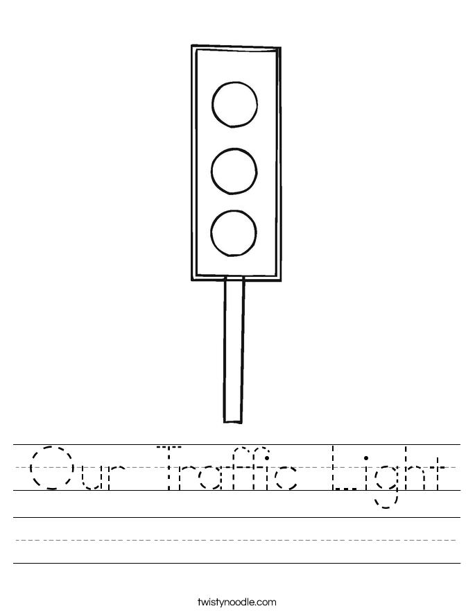 Our Traffic Light Worksheet