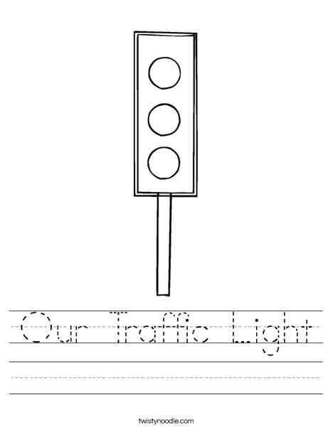 Traffic Light Worksheet