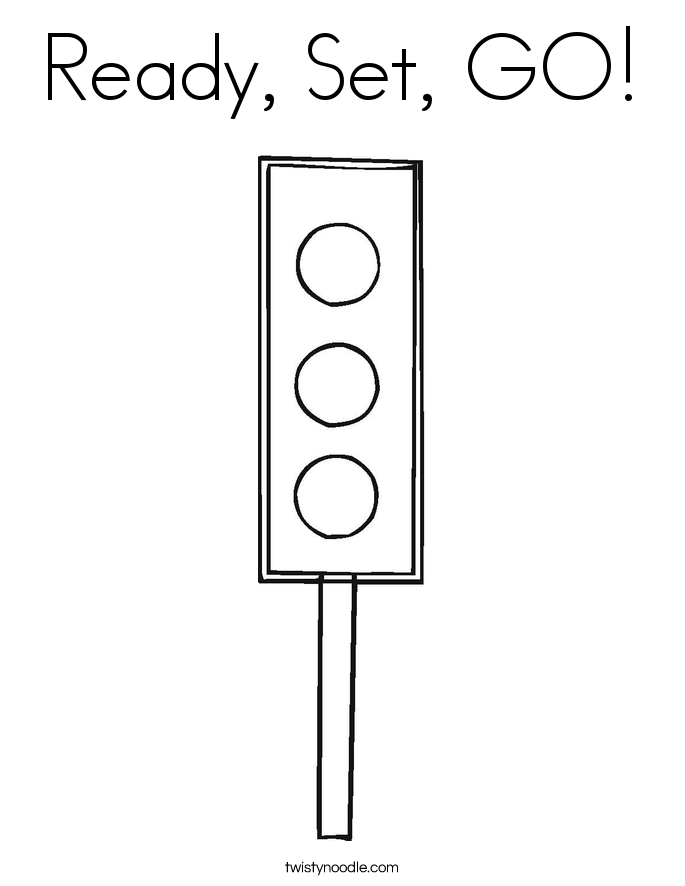 Ready, Set, GO! Coloring Page