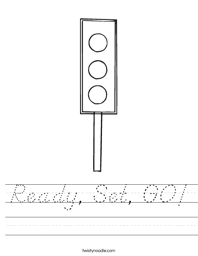 Ready, Set, GO! Worksheet