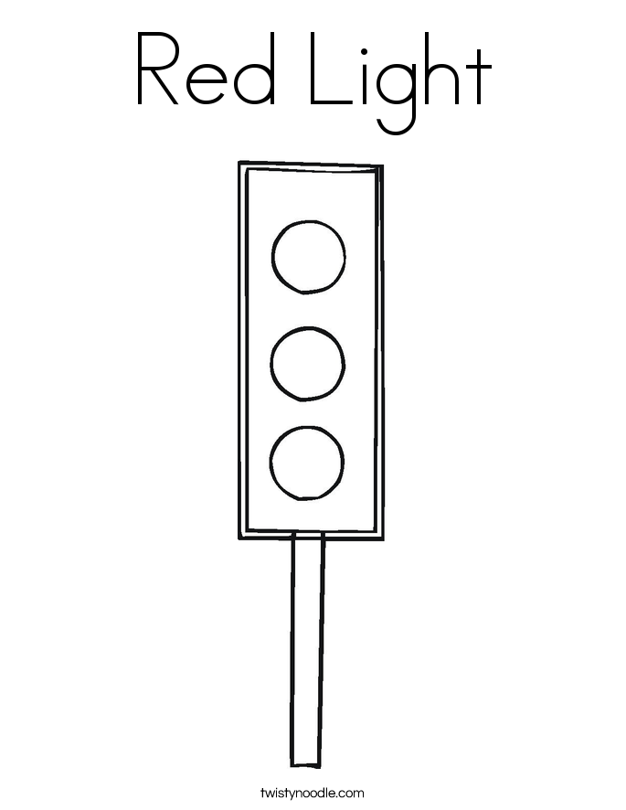 Red Light Coloring Page