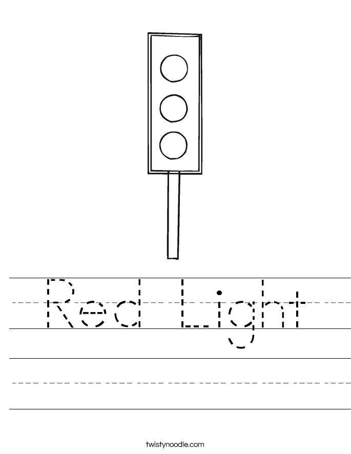 Red Light Worksheet