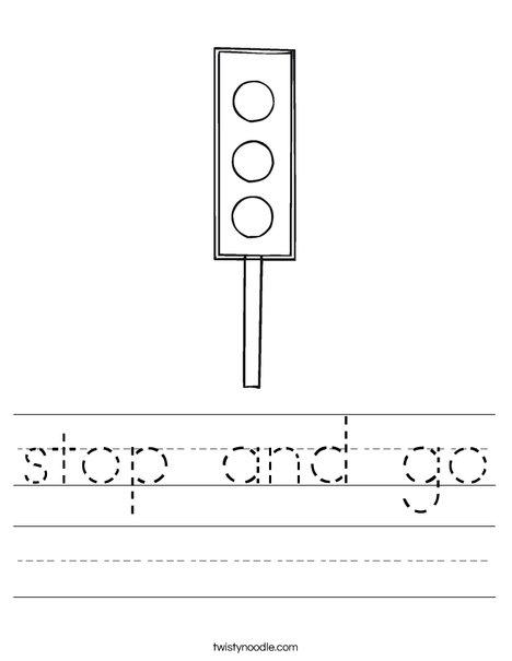 stop and go worksheet twisty noodle. Black Bedroom Furniture Sets. Home Design Ideas
