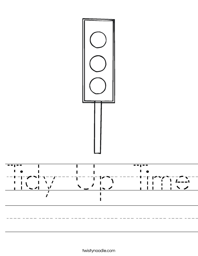 Tidy Up Time Worksheet