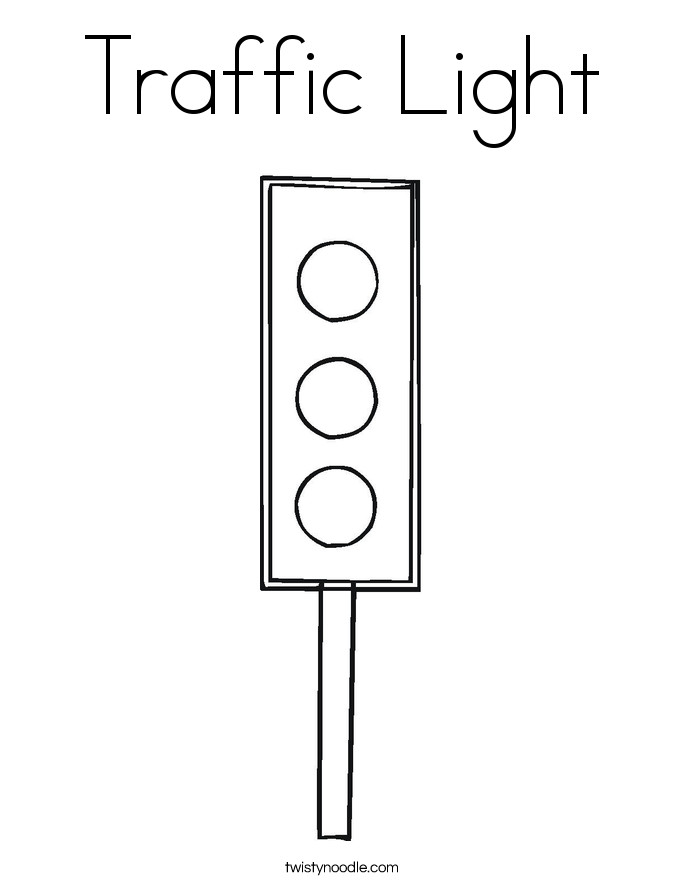 Traffic Light Coloring Page - Twisty Noodle