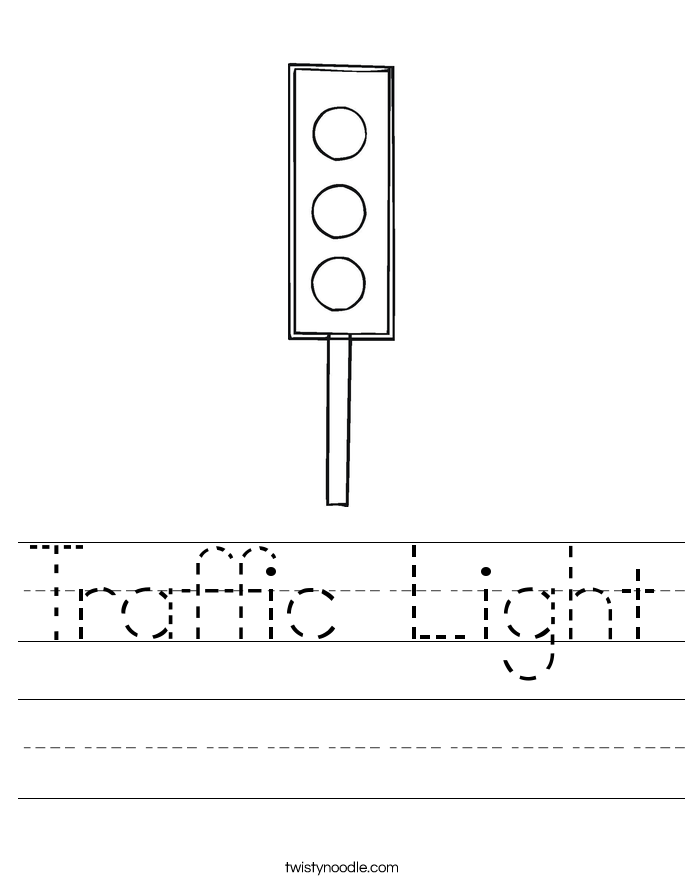 Traffic Light Worksheet - Twisty Noodle