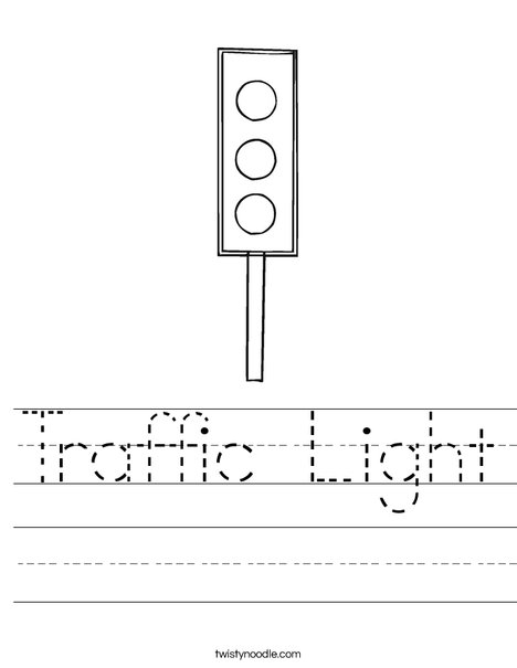 Traffic Light Worksheet: traffic light worksheet twisty noodle,