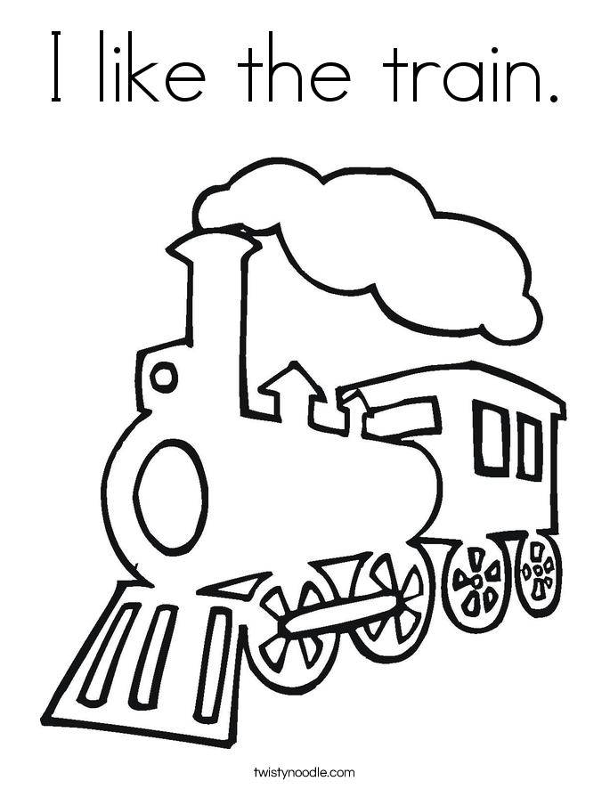 I like the train. Coloring Page