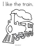 I like the train.Coloring Page