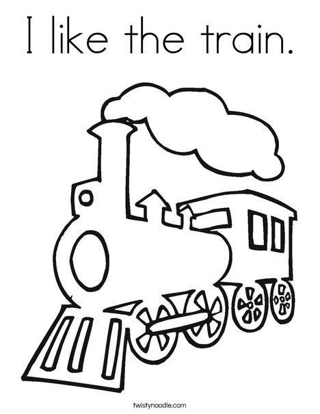 Steam Train Coloring Page