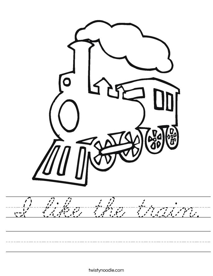 I like the train. Worksheet