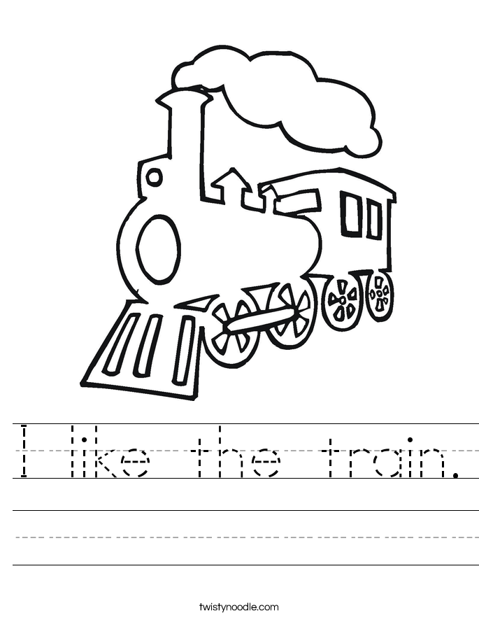 I like the train. Worksheet