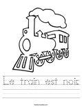 Le train est noir. Worksheet