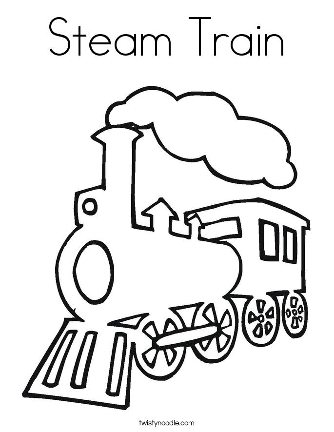 Train Template Printable