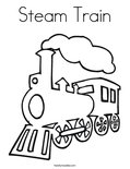 Steam TrainColoring Page