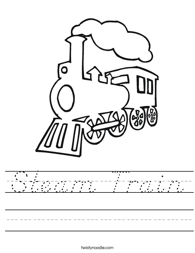 Steam Train Worksheet